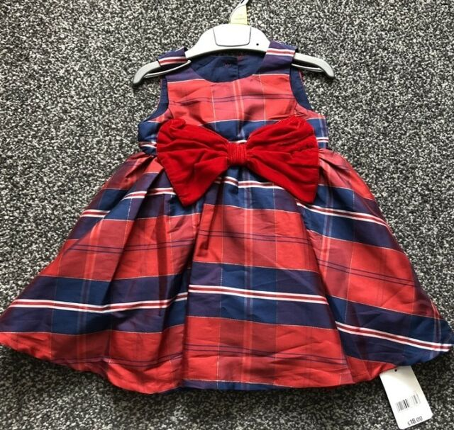 a737bfa4c442e NEW Mothercare Navy & Red Party Dress Baby Girl 3 - 6 Months Wedding  Christmas