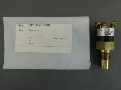 Nason TD-2C-220R Temperature Switch 220°R - NEW Surplus!