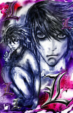 Death Note Japanese Anime Ryuuku Yagami Light Art Hot FABRIC Poster N2834