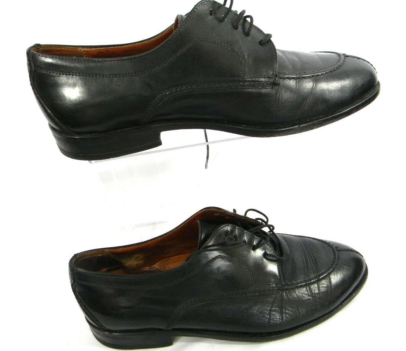 Bostonian Florentine 10.5 W  Mens shoes Black Leather Oxford Lace-Up Dress shoes