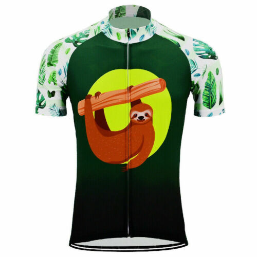 cycling Short Sleeve Jersey mens Team Sloth Cycling Jersey
