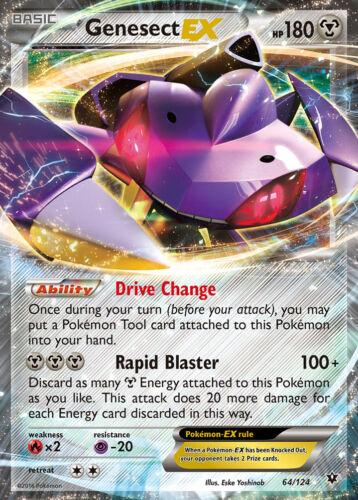 Genesect EX 64//124 xy10 Fates Collide-ex carte anglais NM pokemon