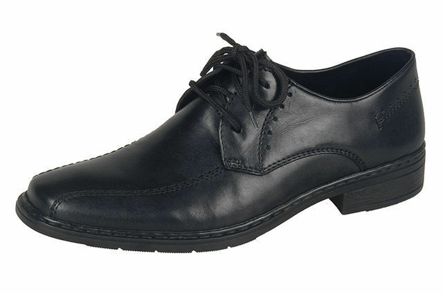 RIEKER Up 10802-00 Mens Black Lace Up RIEKER Formal Shoe RRP £62.00 9cd929