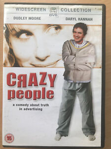 Dudley-Moore-CRAZY-PEOPLE-1990-Truth-in-Advertising-Cult-Comedy-Rare-UK-DVD