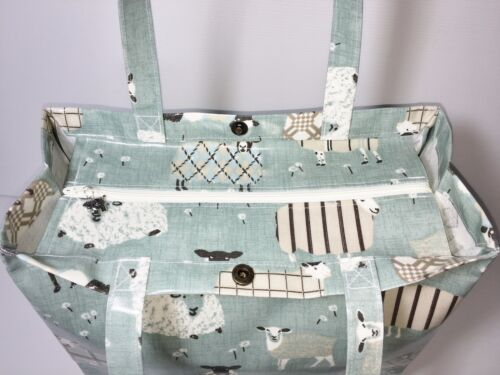 BagsBaa Tote Original By Sheep Nikki's Oilcloth Egg Totes Handmade Duck NnwOm8v0
