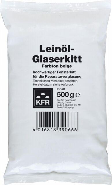 Huile de Lin 0,5 kg Vitrier Fenêtre Vitrification Holzfenster Mastic Kitt