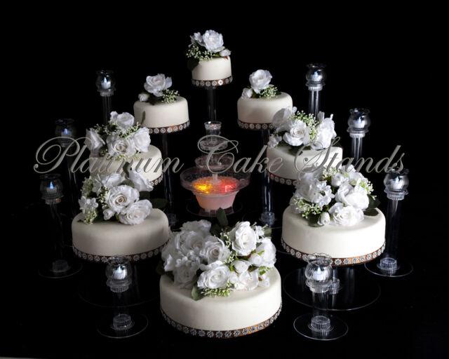 6 TIER CASCADE WEDDING CAKE STAND W//FOUNTAIN STYLE R602