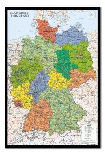 Gerahmt Deutschland KKunste Schautafel Poster Fertig Zum Aufhängen - Auswahl