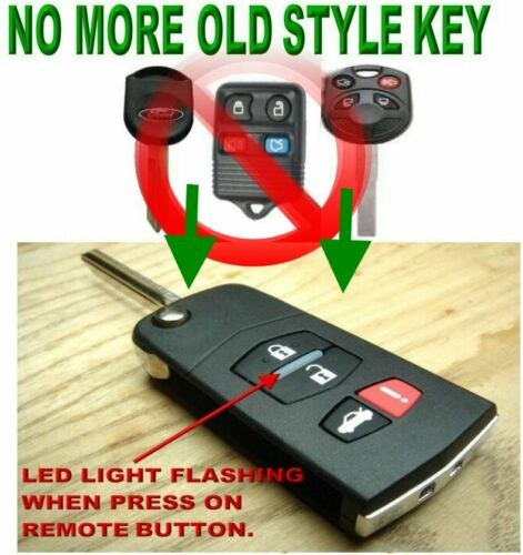 ALin1 SWITCHBLADE KEY REMOTE FOR 2012-18 FORD FOCUS CHIP TRANSMITTER CLICKER FOB