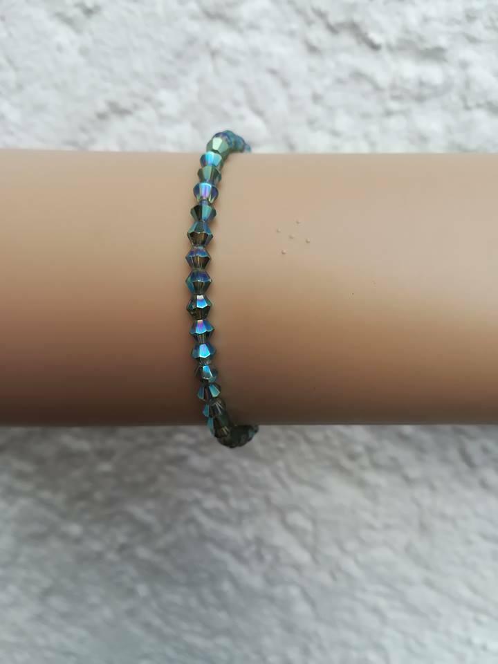Modeschmuck Armband Kristall Beads rot grün blau rosa lila 13-16 cm Kinder