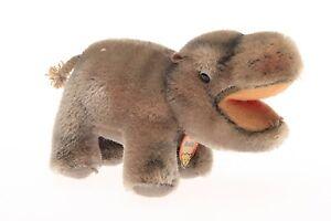Antiquitäten & Kunst GemäßIgt Steiff Tier Mockie Mit Pappschild Bequemes GefüHl Antikspielzeug