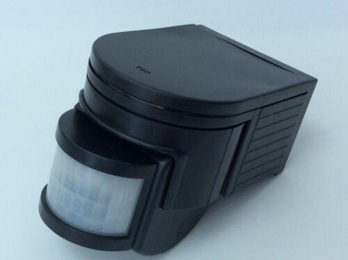 Outdoor PIR Sensore Rilevatore di Movimento Nero Raggio di 160 gradi 1200 WATT