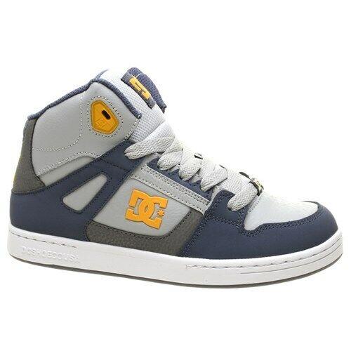 DC Rebound SE Niños Azul//Gris//Azul Zapato DC Zapatos DC Zapatillas DC Zapatos Para Niños