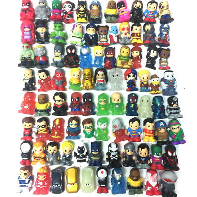Lot 3Pcs ooshies BATMAN DC Comic Black Blue Silver Pencil Topper figure toys