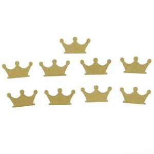 1-Set-of-100-Gold-Glitter-Crown-Cupcake-Toppers-Wedding-Picks-Party-BABY-SHOWER