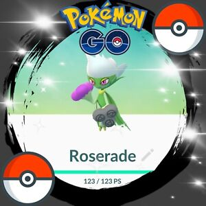 ????pokemon Go ????shiny Roserade???? Rare Trade/trading 100% Safe No Ban / 30 Days????