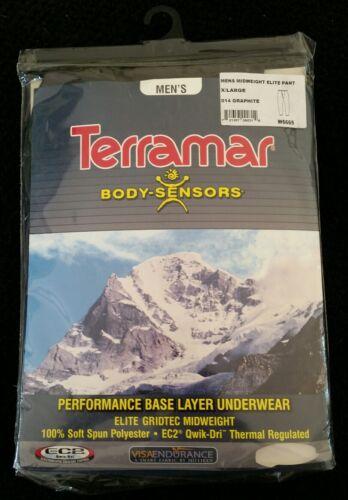 Neuf sous emballage Terra Mar corps Capteurs performance thermique poids moyen Pantalon Gris Taille XL