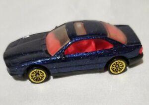 Hot Wheels 1990 Mainline Bmw 850i Blue Card Gold Ultra Hot Wheels 255 Ebay