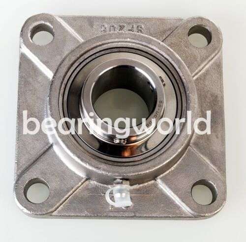 """High Quality SUCSF206-18  1-1//8/"""" Stainless Steel 4-bolt Flange Bearing UCF206-18"""