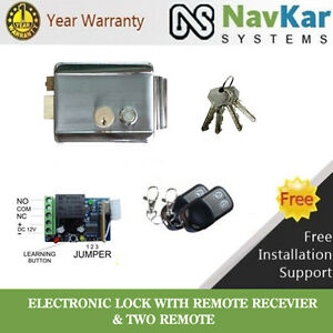 Electronic-Door-Lock-for-house-Main-Metal-Door-Gate-to-operate-by-Remote