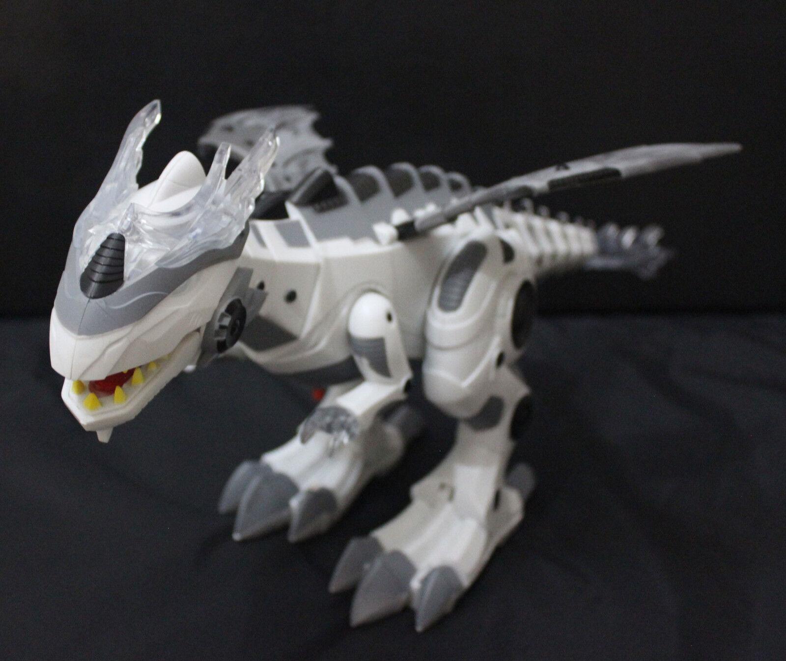 Walre Battery Operated giocattolo bianca Dragon  Dinosaur Wing Tail Movement  risparmia fino al 70%