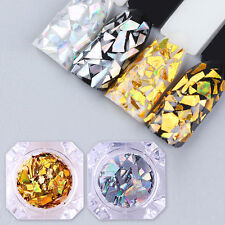 BORN PRETTY Laser Nail Sequins Holographic Gold Silver Glitter Paillette Flakes