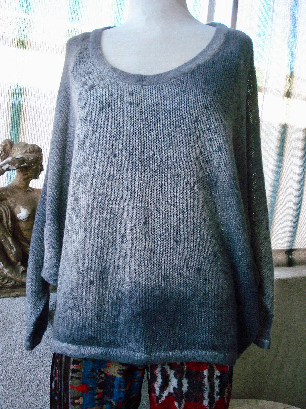 Parkerbluee Parkerbluee Parkerbluee Yadavi Pacific Dye NEPAL 100% CASHMERE Tunic Sweater Top  S 43d2c3