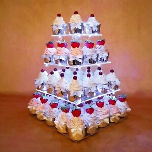 Fabulous Cupcake Stand 4 Tier Acrylic For Birthday Cake Baby Shower Personalised Birthday Cards Paralily Jamesorg