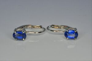 Earrings-14k-Withe-Gold-with-Natural-Blue-Kyanite