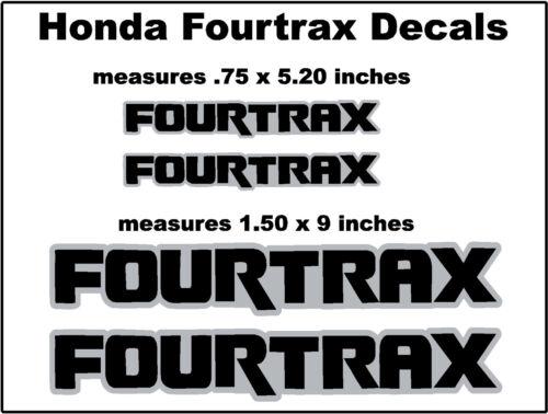 Honda Fourtrax Decals  Rancher Rincon Foreman Rubicon Recon ATV bk//gr