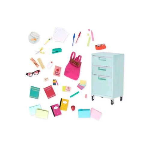"""NEW Our Generation School Supplies Accessory Set Fits 18/"""" Doll American Girl"""