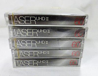 audio cassettes Laser UHD II 60 min ultra high density set of 5 blank