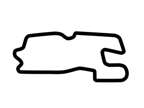 Heartland Park Topeka Decal Sticker Outline Vinyl Race Track Car Motorcycle