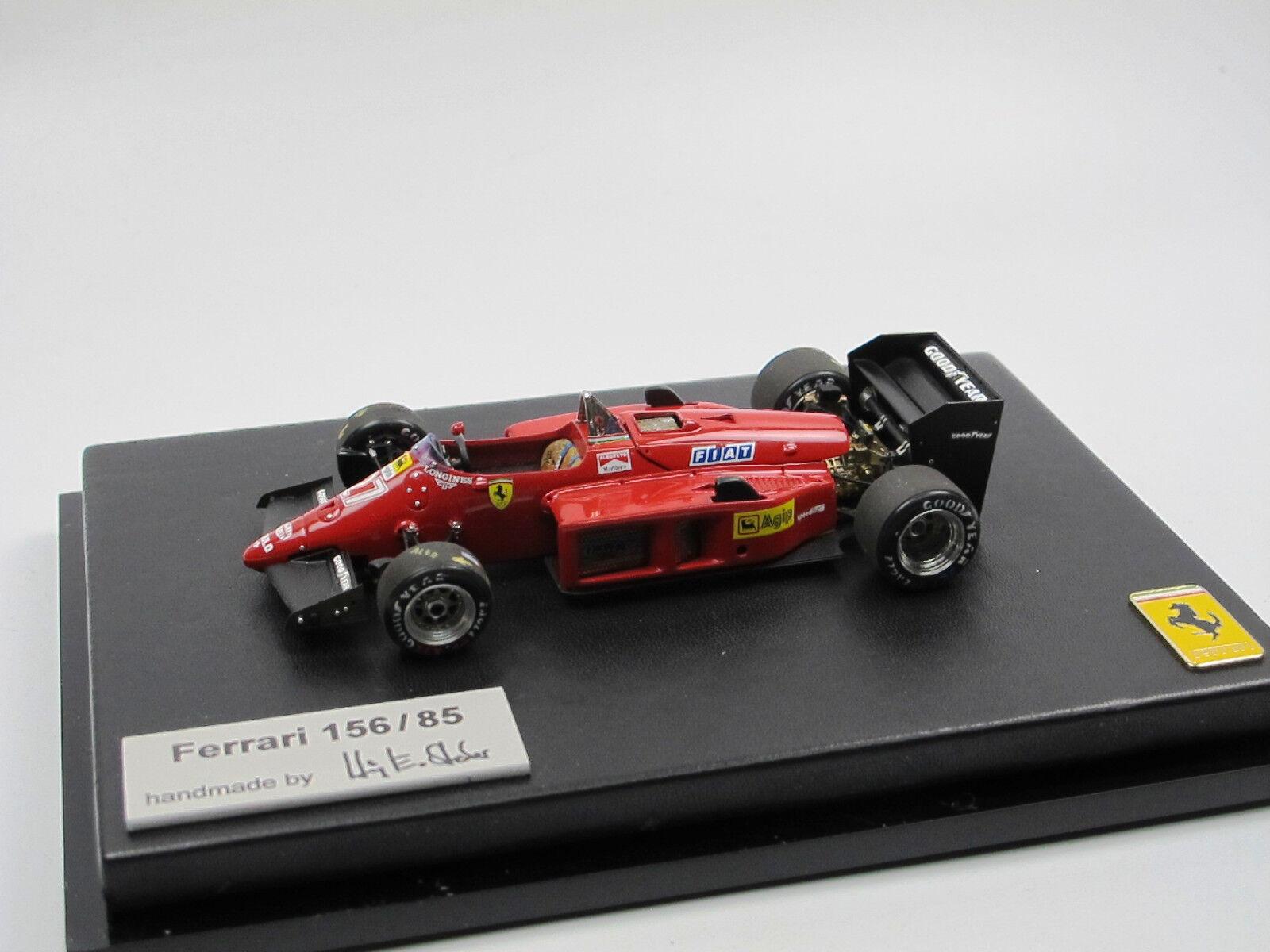 BOSICA FERRARI 156 85 GP Monza 1985  27 1 43 construit par Steber High Tech Modèle
