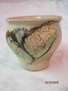 Large and colorful Nemadji pot