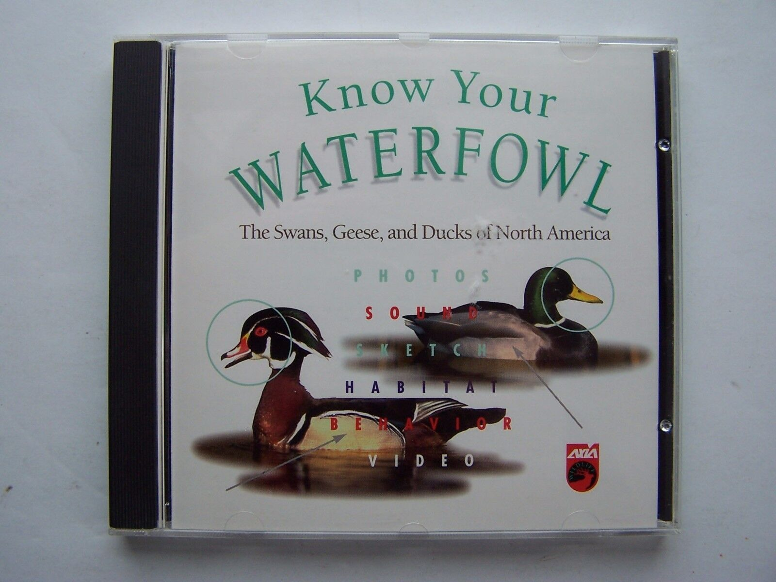 Know Your Waterfowl Multimedia PC CDROM 1995 Axia Inter