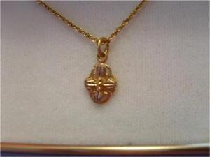 Vintage Antique 12K Multi Colored Original Black Hills Gold Cross Necklace