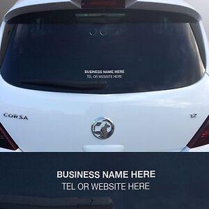 X Rear Window Stickers Personalised Car Sales Vinyl Decals - Personalised car window stickers