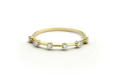 Geschickt Diamant Memory Ring 6 Brillanten 0,08 Carat 585er 14 K Gold Weißgold Rosegold