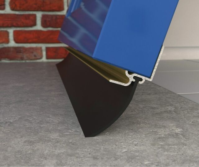 Exitex Garage Door Bottom Gap Seal Draught Draft Excluder Aluminium