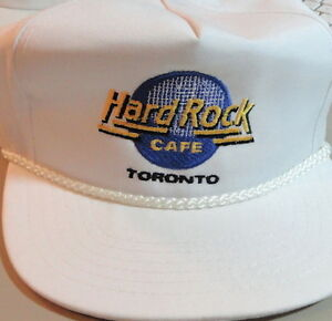 Hard-Rock-Cafe-TORONTO-White-Baseball-HAT-Pre-Unification-HRC-Logo-MINT-NEW