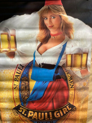 Vintage 1984 St Pauli Girl Beer Poster