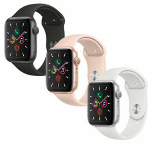New-Apple-Watch-Series-5-Gold-Gray-Silver-40mm-44mm-Pink-Black-White-Sport-Band