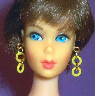 Barbie Dreamz NEON YELLOW MOD HOOPS Hoop Earrings Doll Jewelry