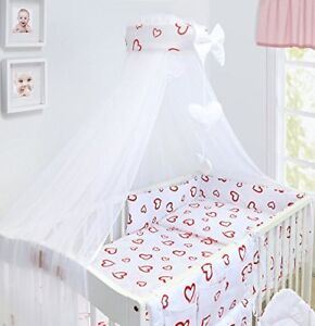 Baby Bedding Set Cot Cotbed 3 6 10 14 Pieces Pillow Duvet Cover Per Canopy Zoo