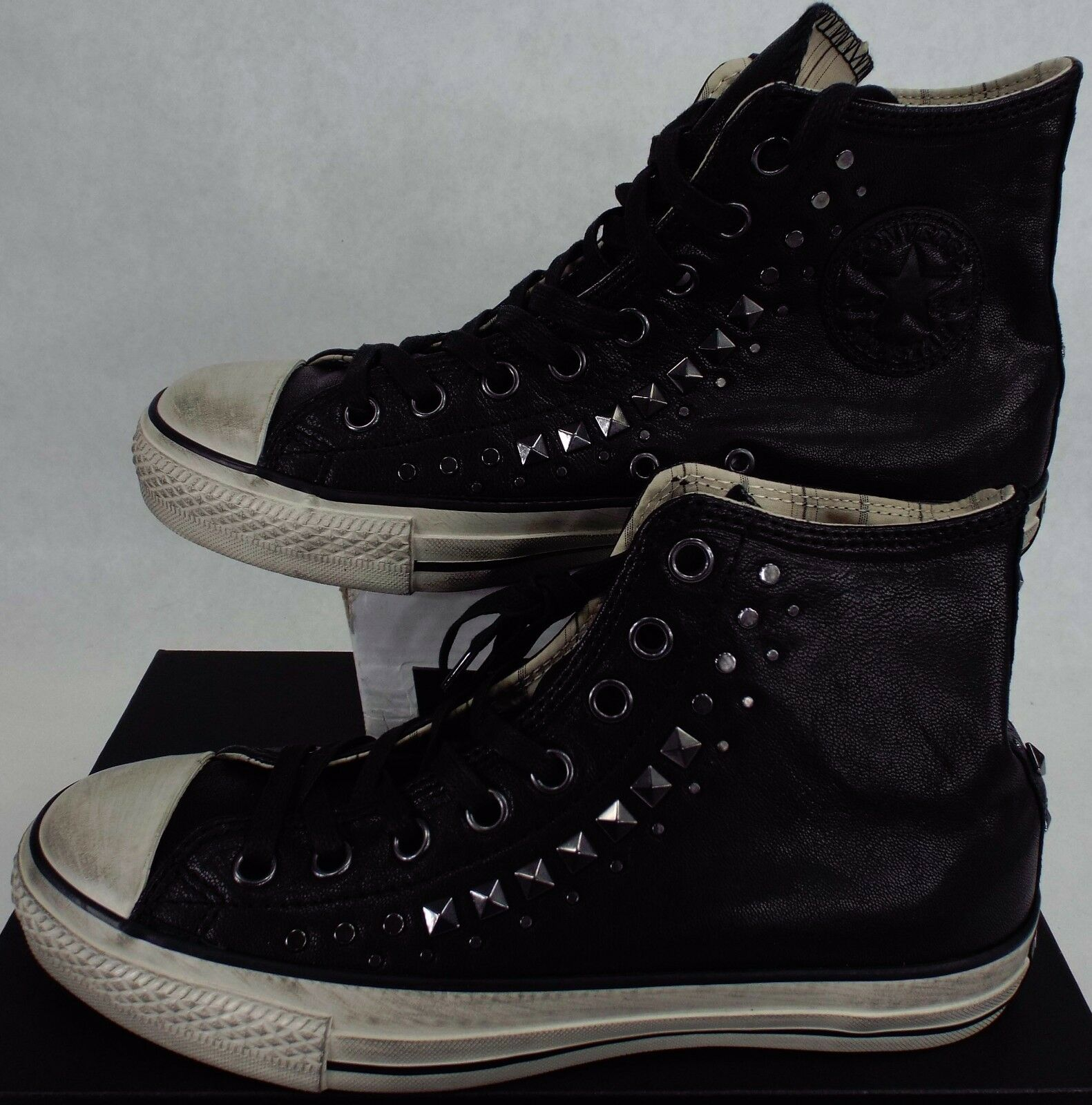 New Mens 4 CONVERSE John Varvatos CT Hi Black Leather Shoes   150162C Womens 6