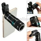 Universal 12X Zoom Mobile Phone Clip-on Telephoto Camera Lens for iPhone 7 6S SE