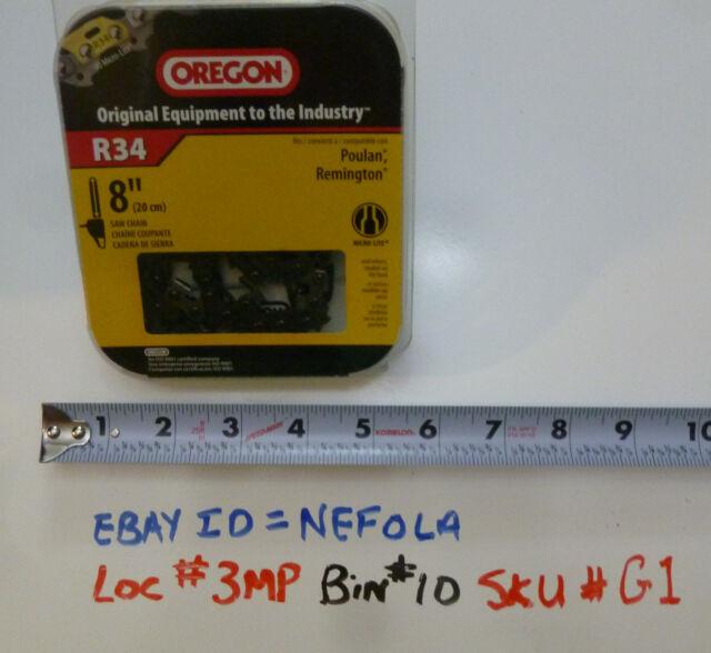 "Oregon R34 8"" 90 3/8"" MICRO-LITE Chain (for pole saw) - 34 Drivelinks"