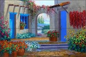 Ceramic-Tile-Mural-Backsplash-Senkarik-Southwest-Courtyard-Art-MSA087