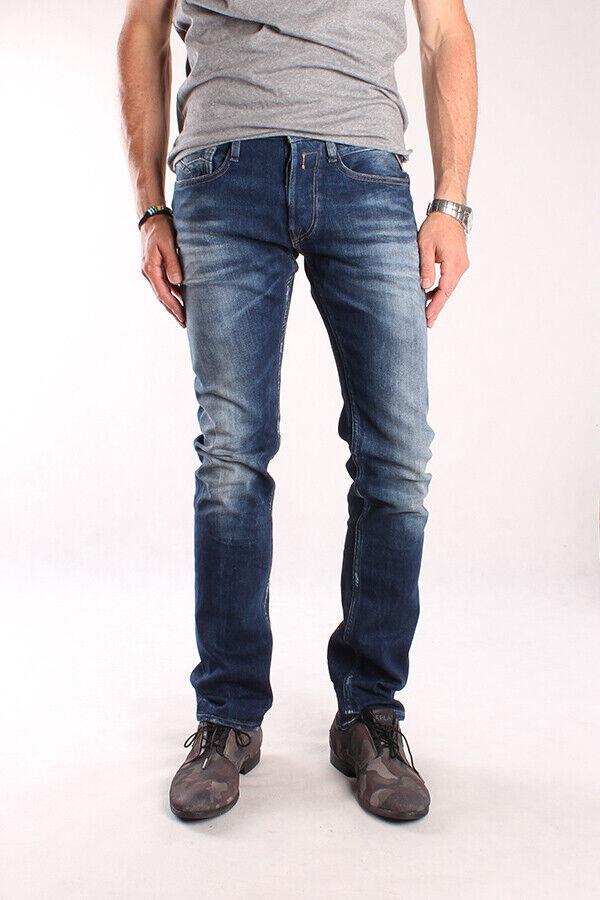 Analytique Neuf Replay Ma955 59 A 650 009 Newbill, Messieurs Jeans, Pantalon, Denim, Bleu, Trousers Bon Pour L'éNergie Et La Rate